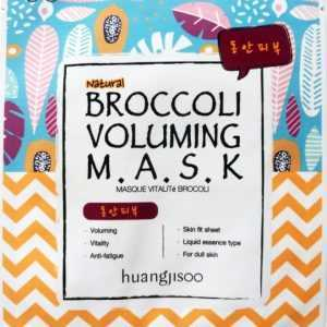 Masca revitalizanta, pt volum, de tip servetel cu broccoli, tenul tern, Huangjisoo