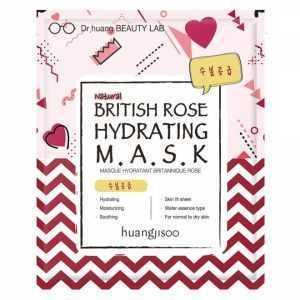 Masca hidratanta de tip servetel cu trandafir englezesc, pt tenul normal si uscat, Huangjisoo
