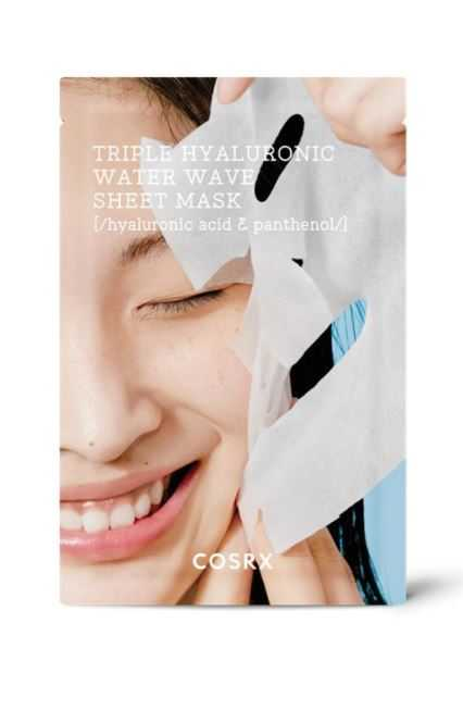 Masca faciala hidratanta cu trei tipuri de acid hialuronic   COSRX