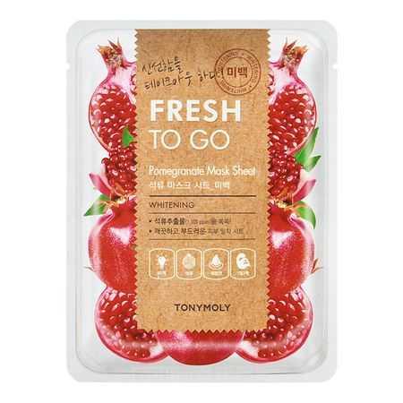 Masca faciala pentru luminozitate Fresh To Go Pomegranate | Tonymoly