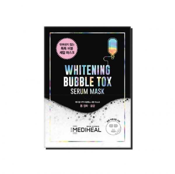 Masca faciala pentru curatare Whitening Bubble Tox Serum Mask | Mediheal