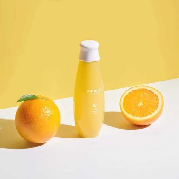 Lotiune tonica pentru luminozitate cu extract de citrice, Citrus Brightening Toner   Frudia